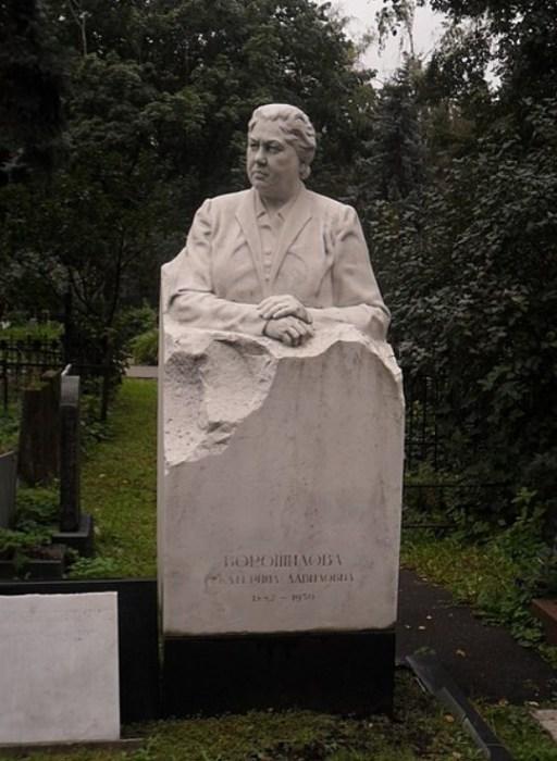 Памятник на могиле Екатерины Ворошиловой. / Фото: www.wikipedia.org